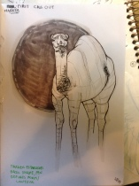 Camel sketch, marker call-out